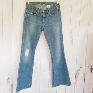 LUCKY BRAND DUNGAREES DISTRESSED JEANS SIZE 4/27